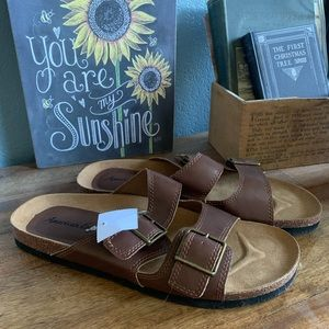 American Eagle By Payless Brown Sandals